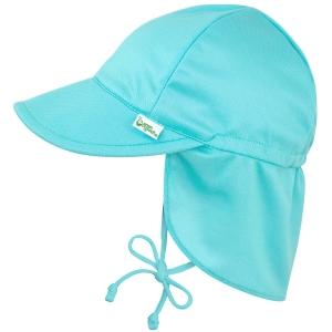 Breathable Swim & Sun Flap Hat - Light Aqua