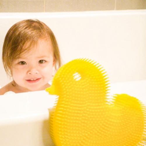 exfoliante para el baño de silicona - Amarillo Pato