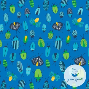 Wet & Dry Bag - Azul Insectos